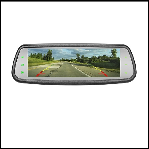 7 2 inch Full screen display Touch button rear view mirror