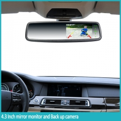 "4.3"" Car  Rearview mirror monitor (with camera)"