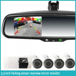 3.5inch Parking sensor display Rearview mirror + Camera + Parking Sensor