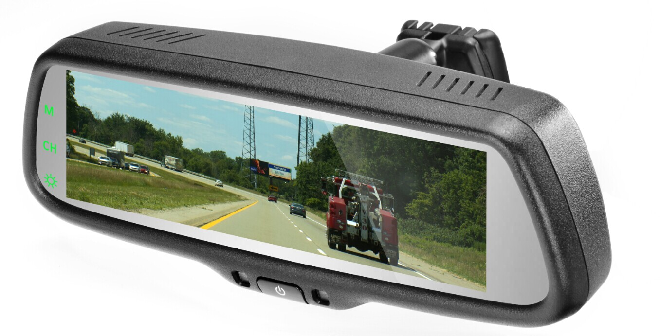 7 3 inch full screen display rearview mirror monitor with for Mirror screen