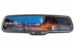 4.3 inch rearview mirror with Auto-dimming and temperature&Compass + Car  Rear camera