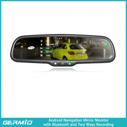 4.3 inch Android Navigation Rearview mirror With front recording