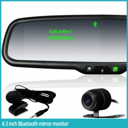 4.3inch OEM styled Bluetooth RearView Mirror Monitor with Rear Camera