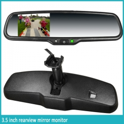 3.5 inch rearview mirror combined with autodimming and compass + Camera
