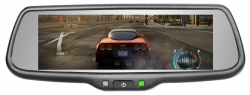 Full screen display rearview mirror  monitor with mirror link function