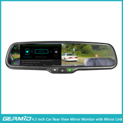 4.3 inch car rearview mirror with mirror link function (with a universal reverse camera)