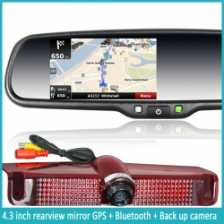 OEM Car 4.3inch  GPS RearView Mirror monitor with IGO map (without camera)