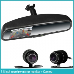 3.5 inch rearview mirror monitor with rear camera