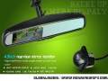4.3 inch Dynamic track reversing rearview mirror monitor(with a universal reverse camera)