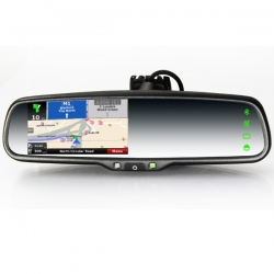 4.3inch Wince Car GPS Rearview Mirror Monitor (With a universal camera and IGO map)
