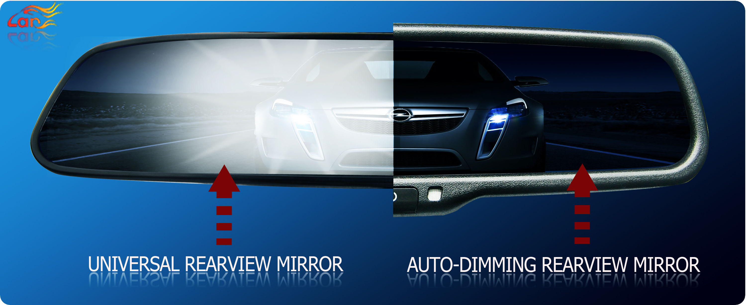 3 5 Inch Rearview Mirror Combined With Autodimming And