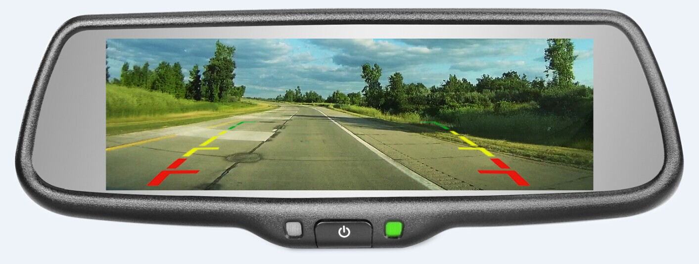 Full screen display rearview mirror monitor with mirror link function - Mirror screen ...