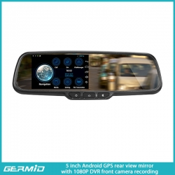 5inch Android GPS RearView Mirror Monitor with 1080P DVR