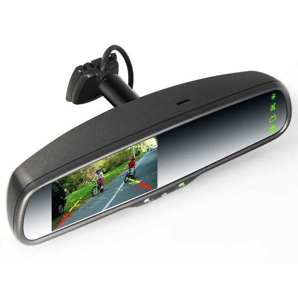 4 3 inch Wince Car GPS Rear view Mirror Monitor (With a universal