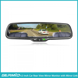 4.3 inch car rearview mirror monitor with mirror link function and reverse display