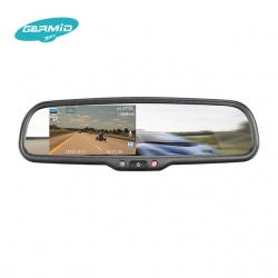Economical Digital Video Recorder Rear view Mirror Monitor with dual recording+16GB SD Card (without camera)